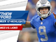 Watch: Matthew Stafford highlights | Week 12