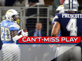 Can't-Miss Play: Desmond King's first career pick-six goes 90 YARDS