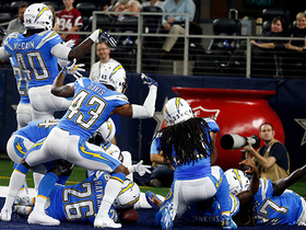 Watch: Hayward grabs Chargers' second INT, D breaks into big celebration