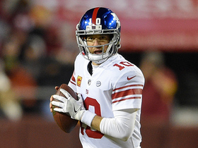 Watch: Eli throws pinpoint deep ball down sideline to Roger Lewis