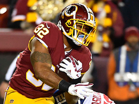 Watch: Samaje Perine finds gap, bolts 16 yards up the field