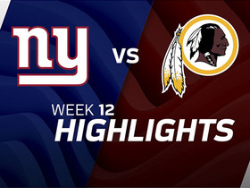 Watch: Giants vs. Redskins highlights | Week 12