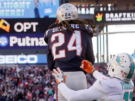 Moore launches into end zone, Gilmore snatches INT