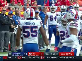 Jerry Hughes completely swarms Akeem Hunt on WR reverse