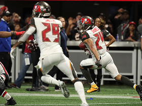 Terron Ward fumbles in red zone, Brent Grimes scoops and returns 37 yards