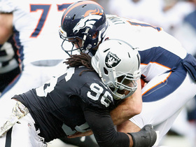 Bruce Irvin strip-sacks Paxton Lynch, Lynch recovers