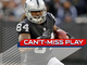 Watch: Can't-Miss Play: Patterson enters Beast Mode after catching rainbow pass from Carr
