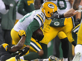 Damarious Randall swarms in for bobbling interception
