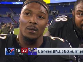 Tony Jefferson explains how he honored Sean Taylor's memory during game vs. Texans