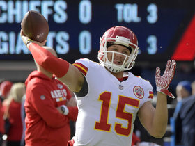 Brandt: 'Go-time' for Mahomes could come at 'halftime' this week