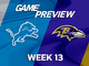 Watch: Lions vs. Ravens Week 13 game preview