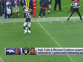 Aqib Talib, Michael Crabtree suspensions reduced to one game