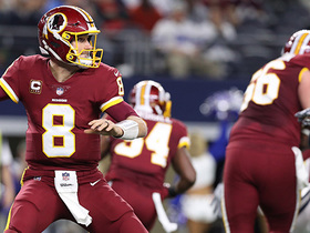 Cousins climbs the pocket, rifles it to Grant for big first down conversion