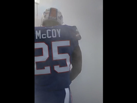 LeSean McCoy and the Bills run out of the tunnel