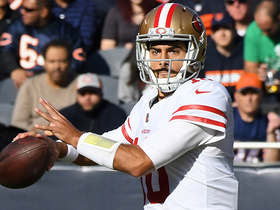 Garoppolo rips pass to Celek for 22 yards and a first down
