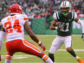 Anderson takes advantage of Revis' loose coverage for 11-yard catch
