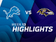 Watch: Lions vs. Ravens highlights | Week 13