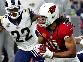 Larry Fitzgerald works across the field for 20-yard gain