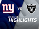 Watch: Giants vs. Raiders highlights | Week 13
