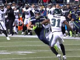 Vannett is wide open to bail out Wilson on the run for 21-yard gain