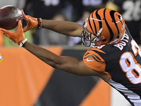 Tyler Boyd's 10th catch of season goes for 12  yards