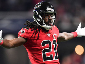 Desmond Trufant breaks up would-be TD pass to Michael Thomas