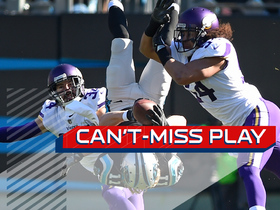 Can't-Miss Play: Bersin makes INCREDIBLE leaping catch and flips in air for 17 yards