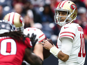 Jimmy G hits Aldrick Robinson for 18 yards into FG territory