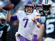 Watch: Keenum's swatted pass ruled a fumble, giving Panthers possession
