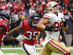 Garrett Celek breaks two tackles for monster 61-yard gain