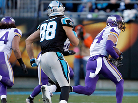 Watch: Sendejo picks off the pass after it hits McCaffrey's hands