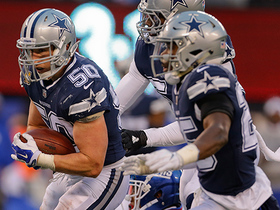 Watch: Sean Lee adjusts and comes up with game-sealing INT