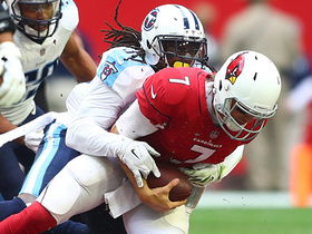 Johnathan Cyprien bursts through for a sack