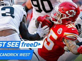 Watch: freeD: Charcandrick West fights off all raider defenders for a rugged 13-yard TD run | Week 14