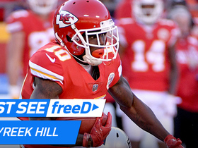 Watch: freeD: Hill gets edge vs. TJ Carrie for 44-yard catch | Week 14