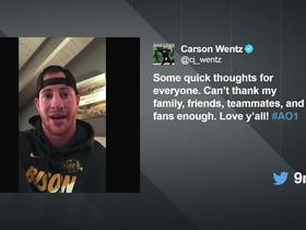 Wentz: 'This will not stop me and I will come back stronger than ever'
