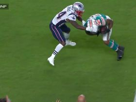 Watch: Xavien Howard perfectly reads Brady to make diving INT