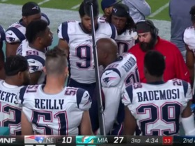 Duron Harmon gets heated trying to pump up Pats defense