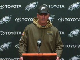 Watch: Frank Reich: We're 'full steam ahead' with Nike Foles
