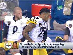 Joe Haden will practice this week for the Steelers