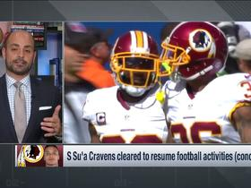 Watch: Redskins Su'a Cravens cleared to resume football activities