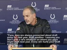 Watch: Chuck Pagano channels Bill Belichick in press conference