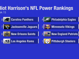 Watch: Elliot Harrison's Week 15 Power Rankings