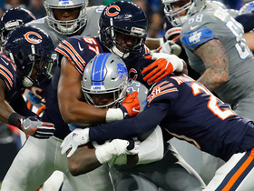 Watch: Bears force fumble in waning seconds of first half