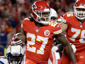 Watch: Kareem Hunt beats defenders down the sideline for a 21-yard gain
