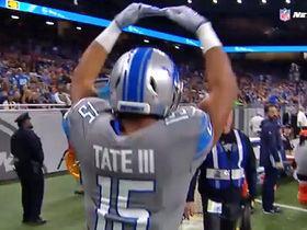 Golden Tate pirouettes his way out of bounds