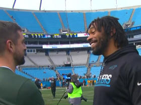 Watch: Julius Peppers and Aaron Rodgers catch up before Packers-Panthers