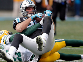 Greg Olsen adjusts for impressive sliding catch and a first down