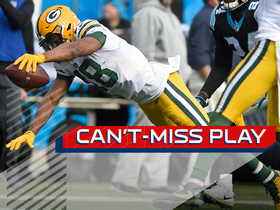 Watch: Can't-Miss Play: Rodgers somehow finds Cobb mid-fall for 33-yard TD