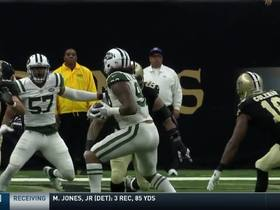 Watch: Leonard Williams interrupts route between Brees and Coleman